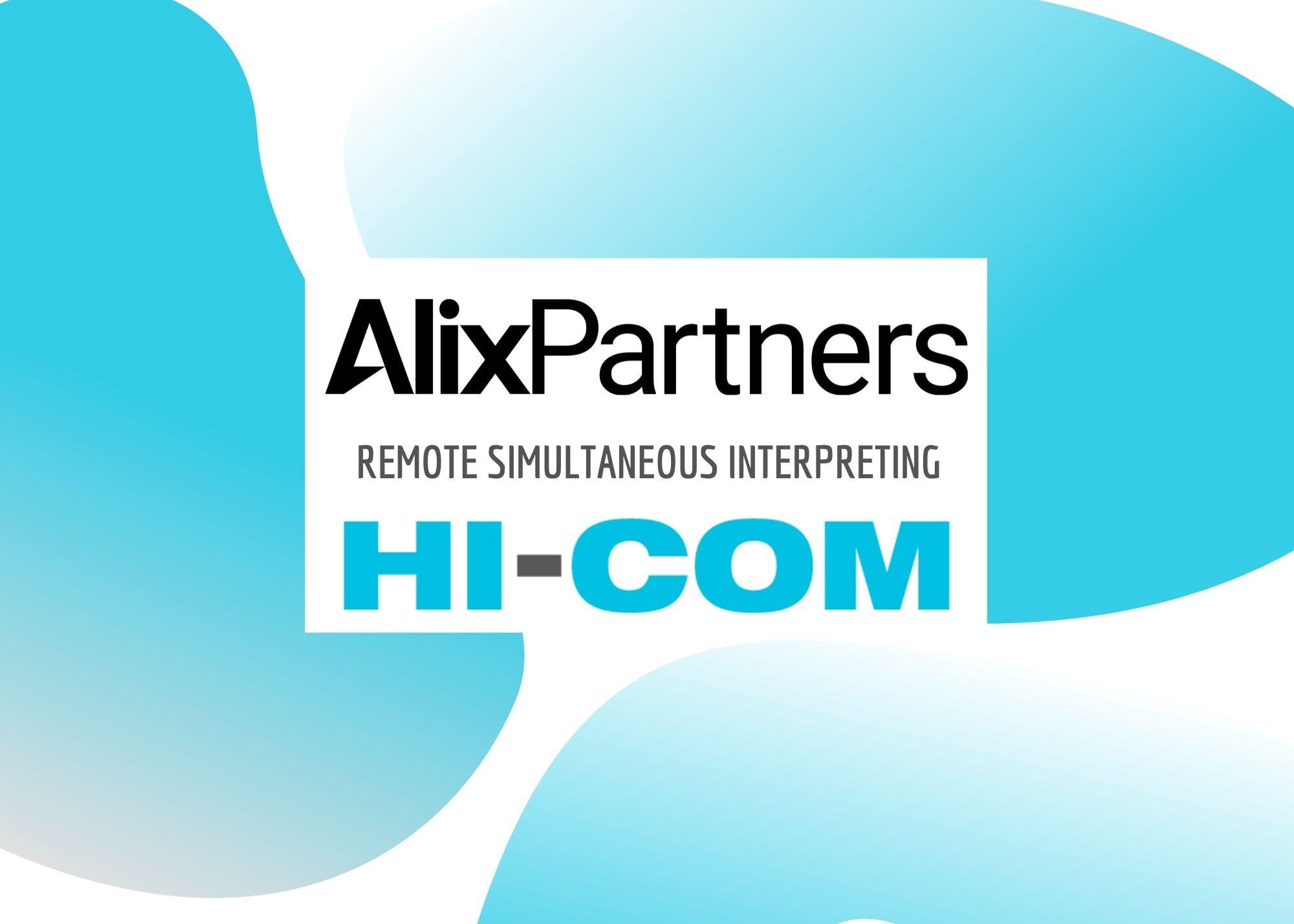 AlixPartner – 远程同声传译服务